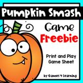Pumpkin Activity: Pumpkin Smash Printable Game: Thanksgiving Activity