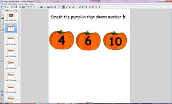 Pumpkin Smash Smartboard Activity