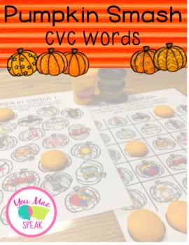 Pumpkin Smash for CVC Words PRINT and GO!