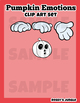 Pumpkin Smilies Clip Art set