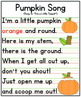 Pumpkin Song Anchor Chart {Printables!}