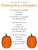 "Pumpkin Song Printable for Fall ""Picking Out a Pumpkin"" - Circle Time Poem"