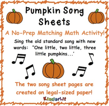 Pumpkin Song Sheet