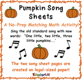 Pumpkin Math - Counting Sets Song Sheet