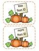 Pumpkin Sort (more than, less than, equal to 10)