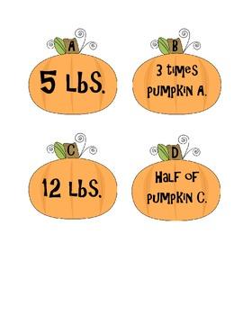 Pumpkin Sorting Activity