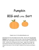 Pumpkin Sorting - Big and Small