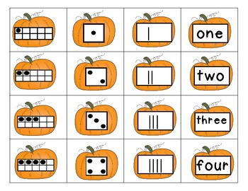 Pumpkin Sorting Fun with Numbers 1-10