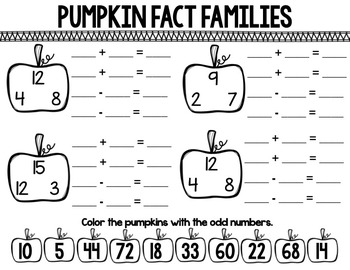 Pumpkin Soup Literacy and Math