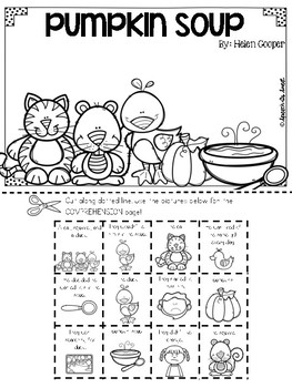 Pumpkin Soup Literature Lap Book