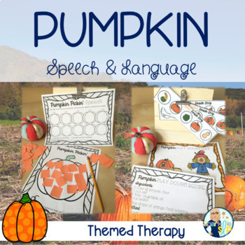 Pumpkin Speech and Language Themed Therapy Unit