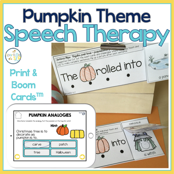 Speech and Language Themed Therapy Unit for Mixed Groups:  PUMPKIN