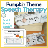 FALL PUMPKIN Speech Therapy Themed Packet for Mixed Groups