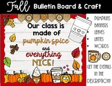Pumpkin Spice Fall Bulletin Board and Writing Craft