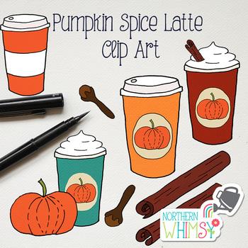 Pumpkin Spice Latte Fall Clip Art