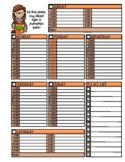 Pumpkin Spice Weekly Planner