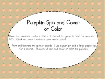 Pumpkin Spin and Color