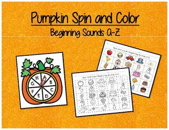 Pumpkin Spin and Color - Beginning Sounds