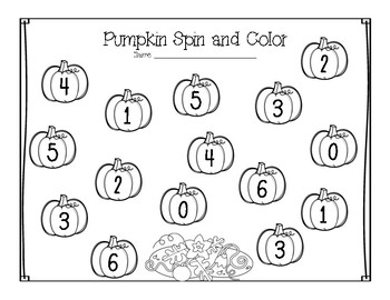 Pumpkin Spin and Color--FREEBIE!!
