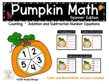 Pumpkin Spinner Math Activities