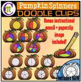 Pumpkin Spinners Clipart