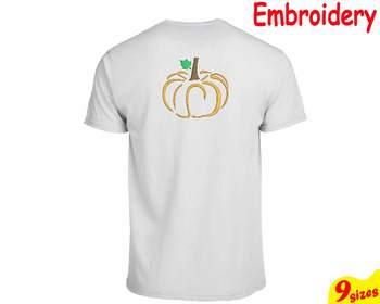 Pumpkin Split & Circle Embroidery Machine digital 4x4 5x7 hoop frame Fall 83b