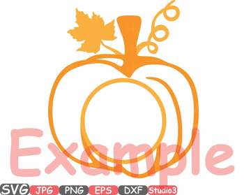 Pumpkin Split Circle Fall Thankgiving clipart studio3 autumn outline 56sv