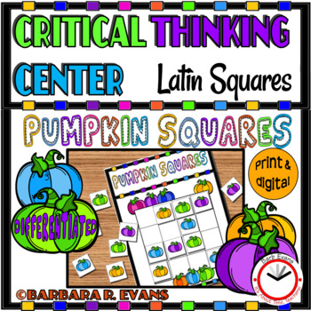 HALLOWEEN LATIN SQUARES Pumpkin Squares Critical Thinking GATE Differentiated