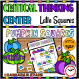 HALLOWEEN LATIN SQUARES CRITICAL THINKING Pumpkin Squares GATE Differentiated