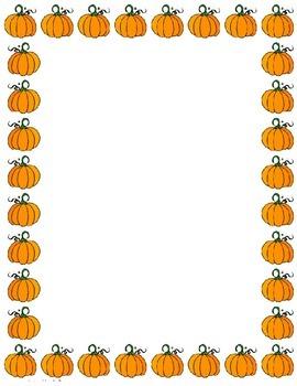 Pumpkin Stationary Blank