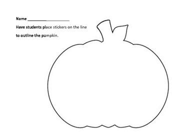 Pumpkin Sticker Outline