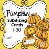 Pumpkin Subitizing Cards 1-30