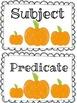 Pumpkin Subject and Predicate Practice