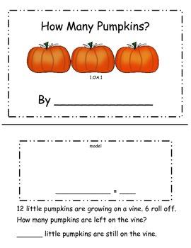 Pumpkin Subtraction Booklet