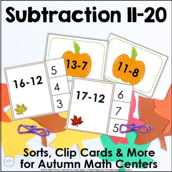 Pumpkin Subtraction Center Activities