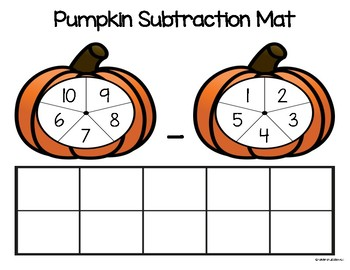 Pumpkin Subtraction Mat