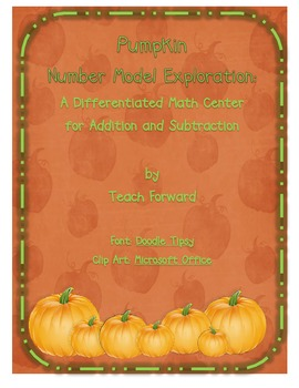 Counting Pumpkins Number Model Math Center