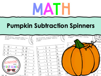 Pumpkin Subtraction Spinners
