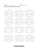 Pumpkin Subtraction Worksheet