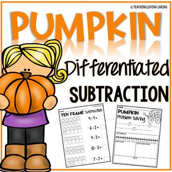Pumpkin Subtraction Worksheets