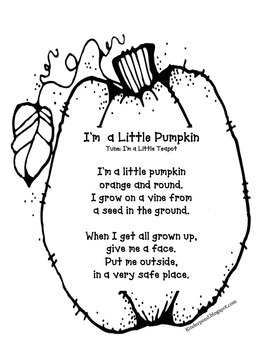 Pumpkin Sung to I'm a Little Teapot
