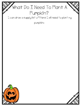 Pumpkin Supply List