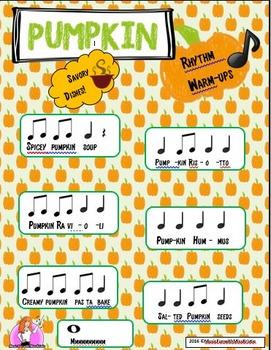 "Pumpkin ""Sweet & Savory"" rhythm warm-ups"