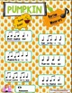 "Pumpkin ""Sweet & Savory"" rhythms WITH 18 slide Power Point"