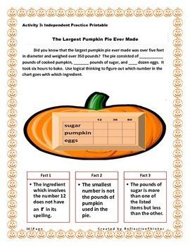 Pumpkin Talk:  Logic Activities with a Fall Theme