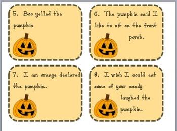 Pumpkin Talk {adding quotation marks}