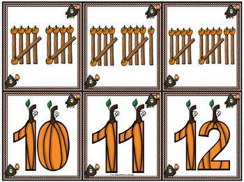 Pumpkin Tally:  LOW PREP Pumpkin Themed Tally Mark Matching Activity
