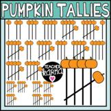 Pumpkin Tally Marks Clipart, Halloween Graphics