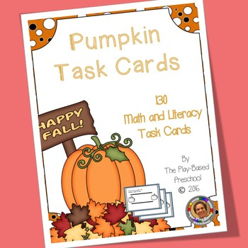 Pumpkin Task Cards for Math and Literacy