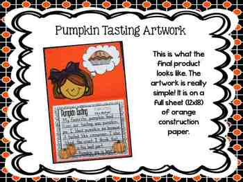 Pumpkin Tasting Opinion Writing & Art Activity